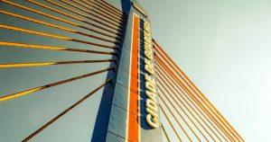 Foto da ponte estaiada da cidade, representando abrir empresa em Guarulhos