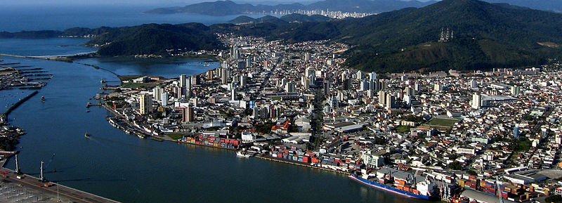 Foto da costa de Itajaí, representando abertura de empresa