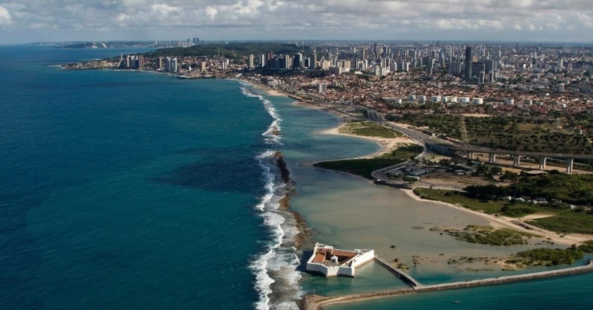 Foto da costa da cidade, representando abrir empresa em Natal