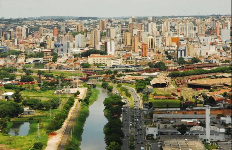 Foto vista de cima do Rio Sorocaba, representando abrir empresa em Sorocaba