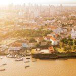 Foto vista de cima da cidade de Belém