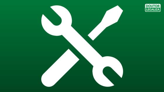 Montagem com ícone de Alvará de Funcionamento - Abertura Simples