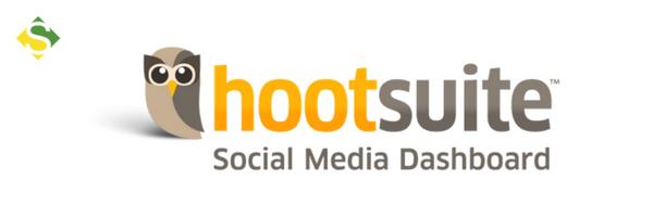Logo de uma das ferramentas de marketing, o Hootsuit