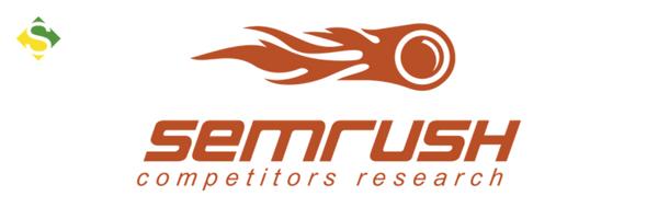 Logo de uma das ferramentas de marketing, o SEMRush