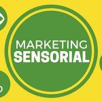 Montagem com representações dos cinco sentidos e o marketing sensorial