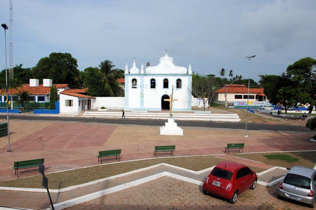 Foto da igreja principal da cidade, representando abrir empresa em Paço do Lumiar