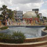 Foto de praça com uma fonte, representando abrir empresa em Mossoró