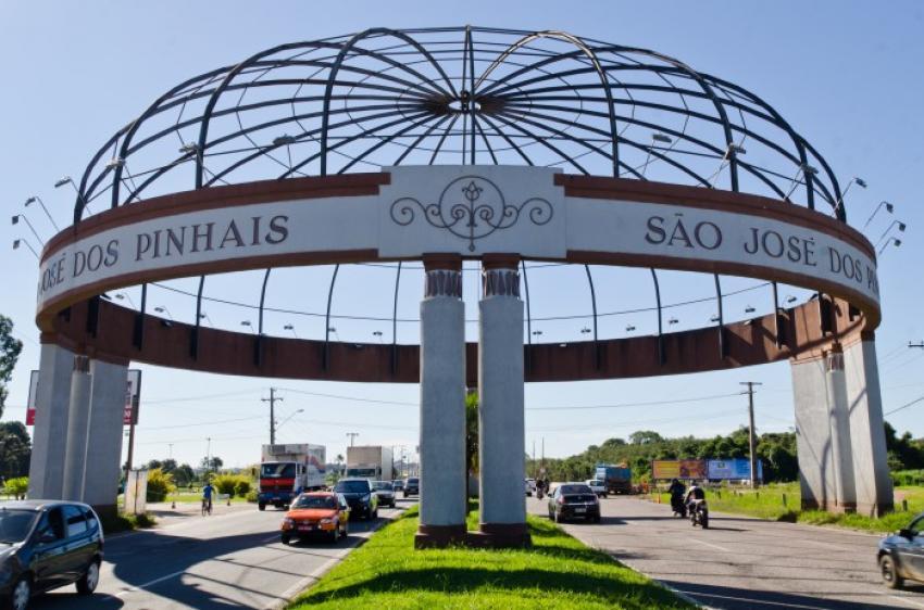 Foto do portal da cidade, representando abrir empresa em São José dos Pinhais