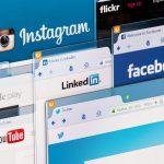 Foto de várias abas em um computador com diversas redes sociais, representando as ações de marketing digital
