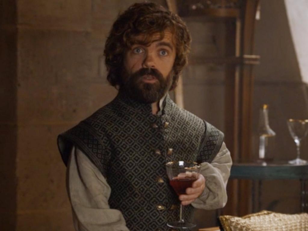 Foto de uma das cenas da série Game of Thrones, com o personagem Tyrion Lannister