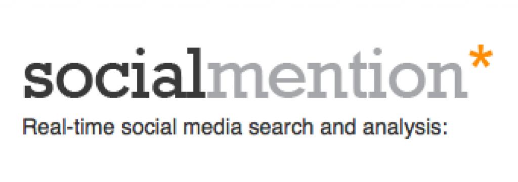Logo socialmention, uma das ferramentas para monitorar os concorrentes