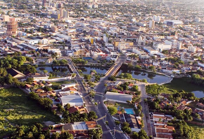 Foto aérea da cidade, representando abrir empresa em Mossoró