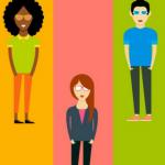 Montagem com algumas pessoas, representando público-alvo x buyer persona