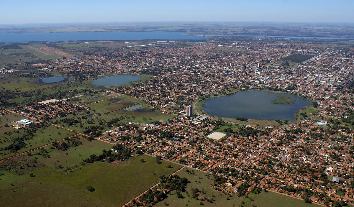 Foto aérea da cidade, representando abrir empresa em Três Lagoas