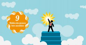 Thumbnail de vetores sobre os 9 passos de pessoas bem-sucedidas