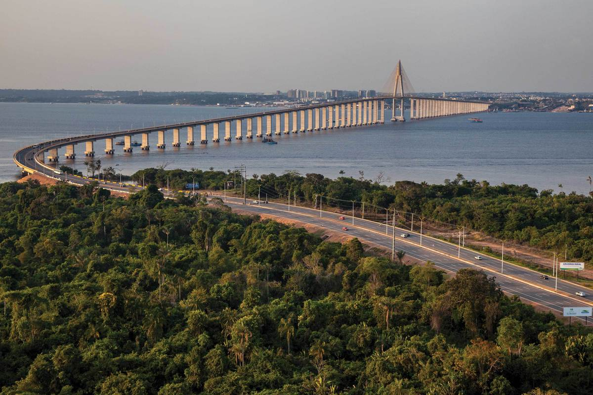 Foto da ponte Rio Negro para chegar em Iranduba, representando escritório de contabilidade em Iranduba - Abertura Simples