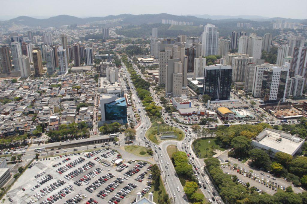 Foto aérea da cidade de Barueri, representando escritório de contabilidade em Barueri