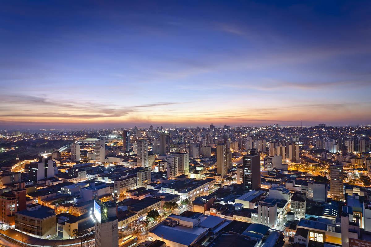 Imagem aérea da cidade de campinas, representando escritório de contabilidade em Campinas - Abertura Simples