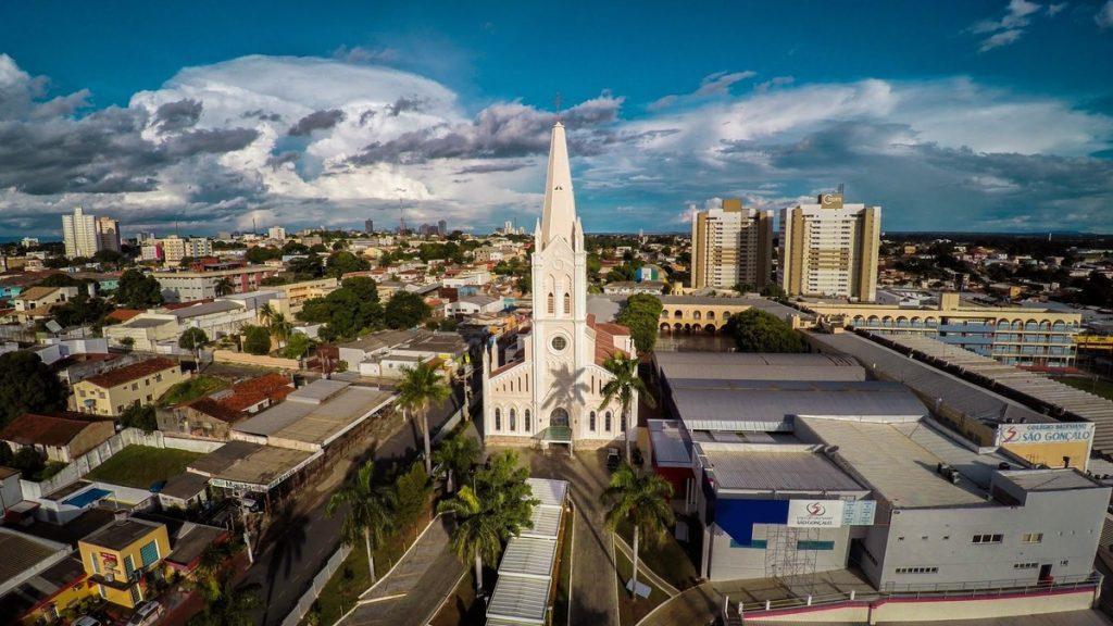 Foto aérea da cidade de Cuiabá, representando escritório de contabilidade em Cuiabá - Abertura Simples