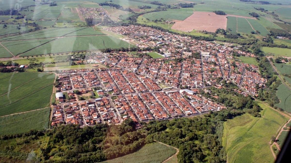 Foto aérea de Dobrada, representando abrir empresa em Dobrada - Abertura Simples