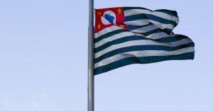 Foto da bandeira do Estado e Governo de São Paulo representando a Pitch Gov.SP 2.0