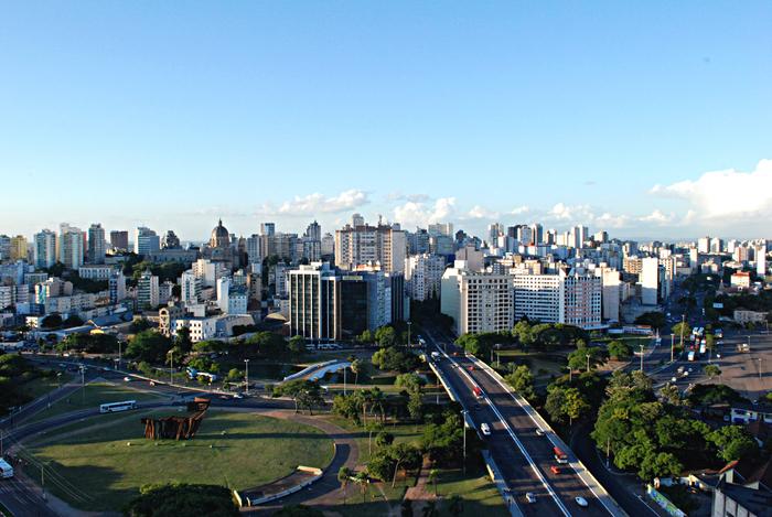 Foto aérea de Porto Alegre, representando abrir empresa em Porto Alegre - Abertura Simples