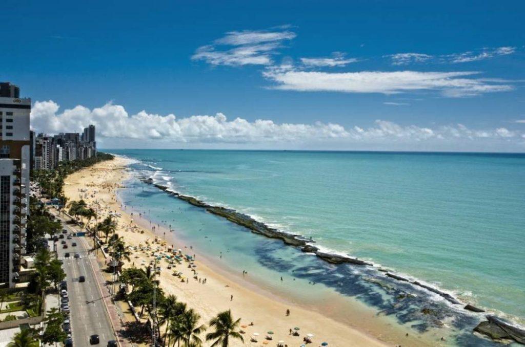 Foto aérea da orla de Recife, representando escritório de contabilidade em Recife - Abertura Simples