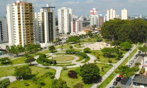 Foto aérea da cidade de São José dos Campos, representando abir empresa em São José dos Campos - Abertura Simples