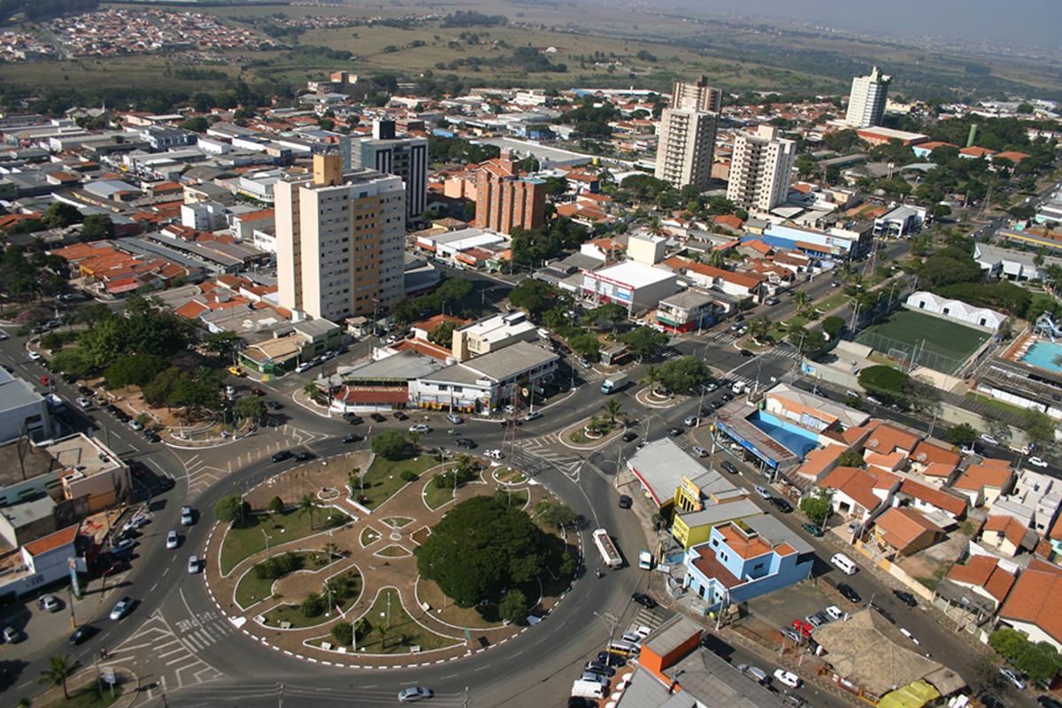 Foto aérea de Sumaré, representando abrir empresa em Sumaré - Abertura Simples