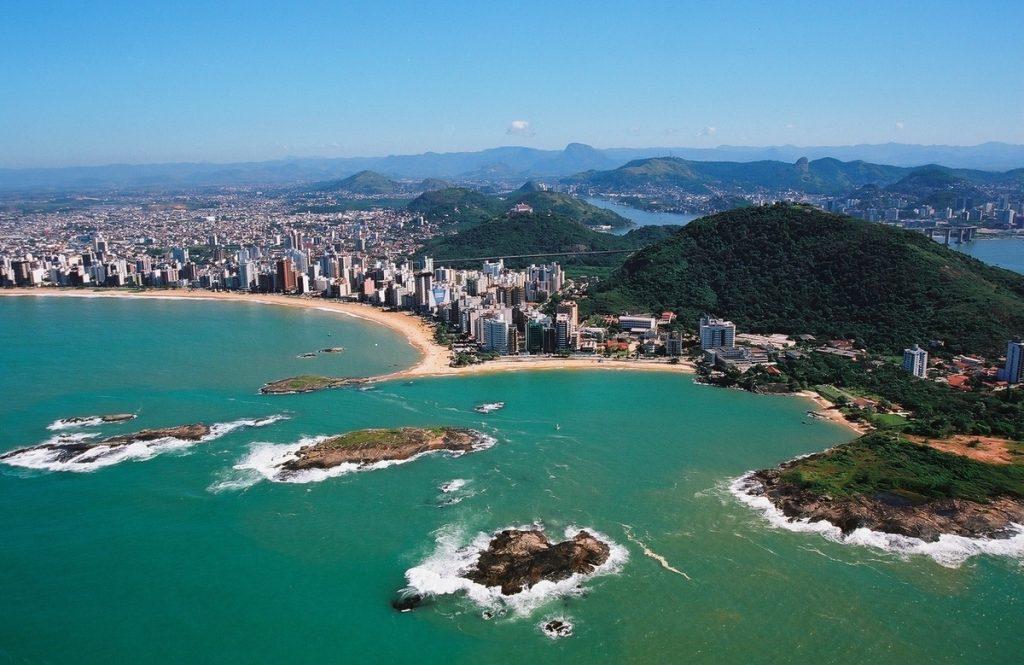 Foto aérea de Vila Velha, representando escritório de contabilidade em Vila Velha - Abertura Simples
