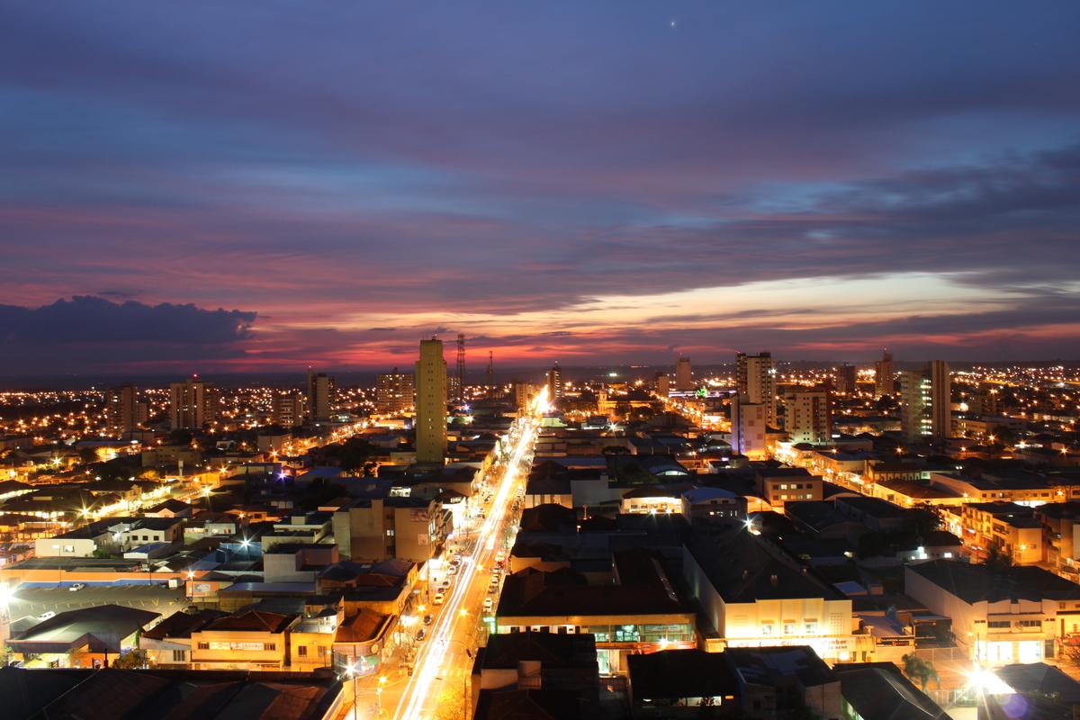 Foto aérea de Arapongas, representando escritório de contabilidade em Arapongas - Abertura Simples