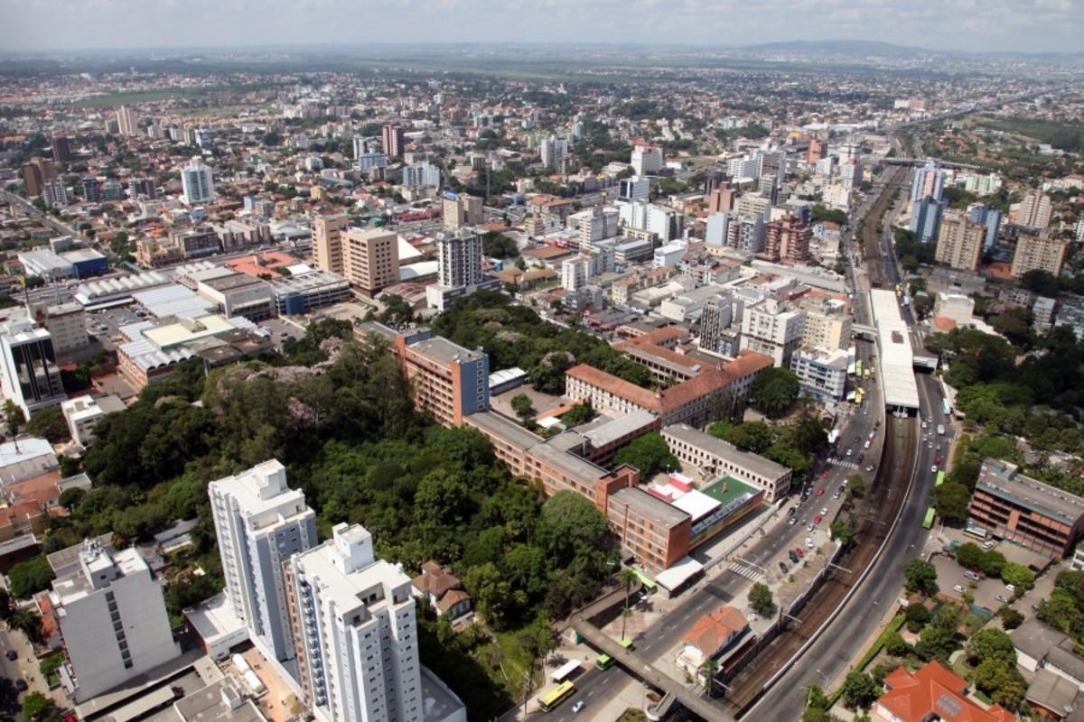 Foto aérea da cidade de Canoas, representando escritório de contabilidade em Canoas - Abertura Simples