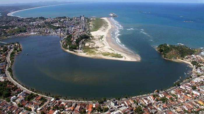 Foto aérea de Ilhéus, representando abrir empresa em Ilhéus - Abertura Simples