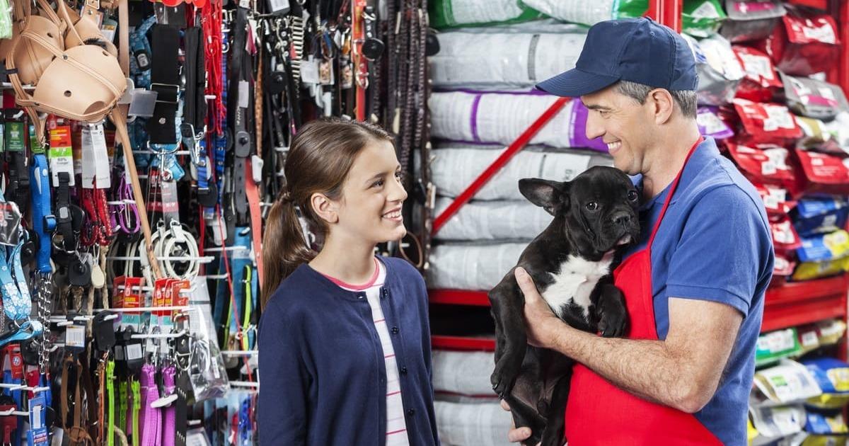 Pessoas em um pet shop, representando como abrir um pet shop - Abertura Simples