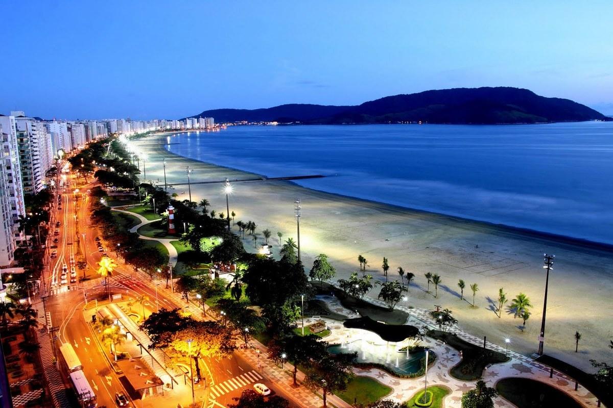 Foto aérea de Santos, representando abrir empresa em Santos - Abertura Simples