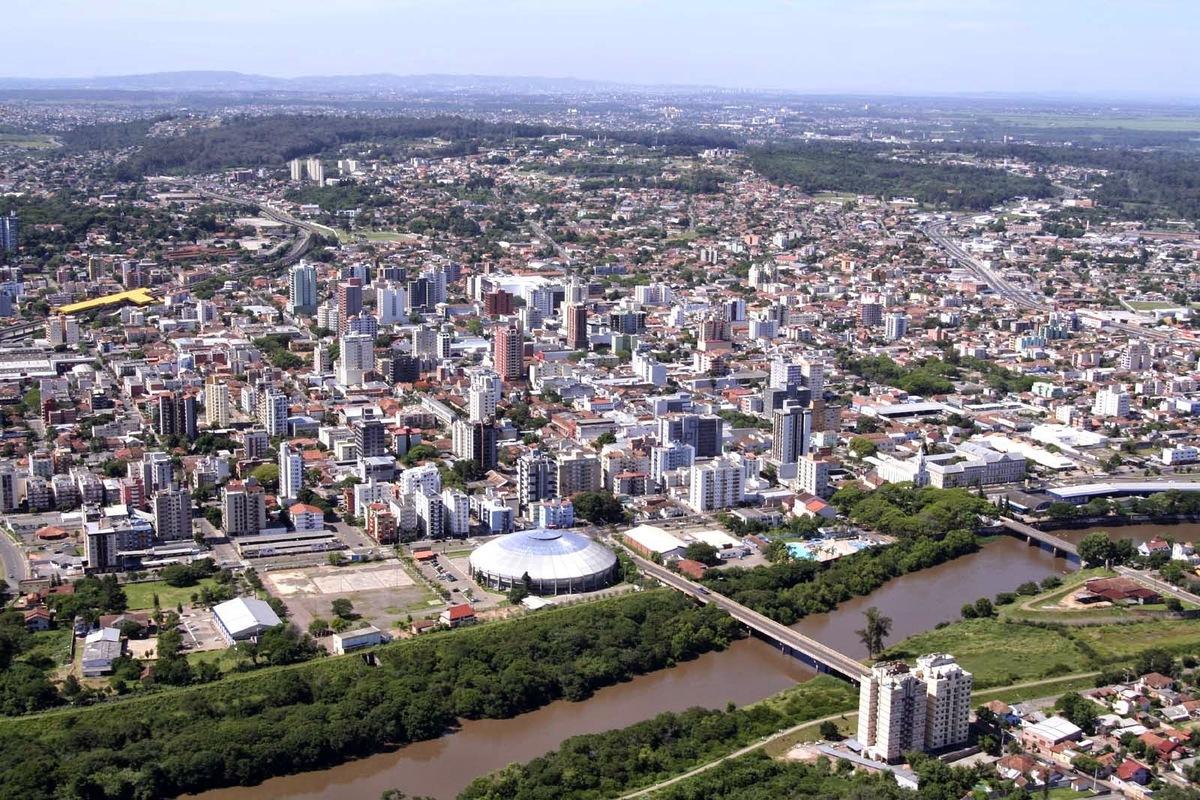Foto aérea de São Leopoldo, representando escritório de contabilidade em São Leopoldo - Abertura Simples