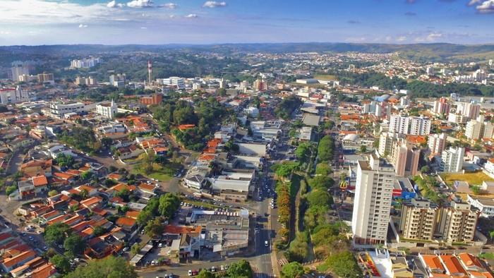 Foto aérea de Valinhos, representando escritório de contabilidade em Valinhos - Abertura Simples