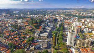 Foto aérea de Valinhos, representando abrir empresa em Valinhos - Abertura Simples