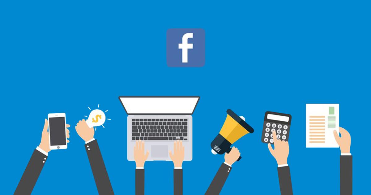 Ilustração de diversas mãos representando o Facebook Ads como estratégia de marketing digital