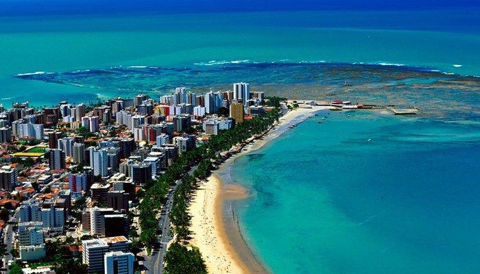 Foto aérea de Maceió, representando escritório de contabilidade em Maceió - Abertura Simples