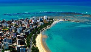 Foto aérea de Maceió, representando abrir empresa em Maceió - Abertura Simples