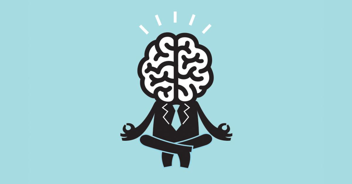 Desenho de uma pessoa com cérebro grande, representando o poder do seu cérebro