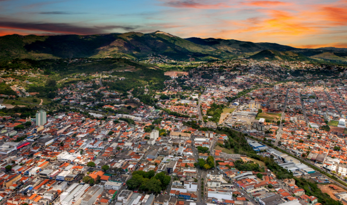 Foto aérea de Atibaia, representando abrir empresa em Atibaia - Abertura Simples