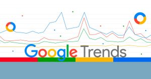 Ilustração representando o Google Trends