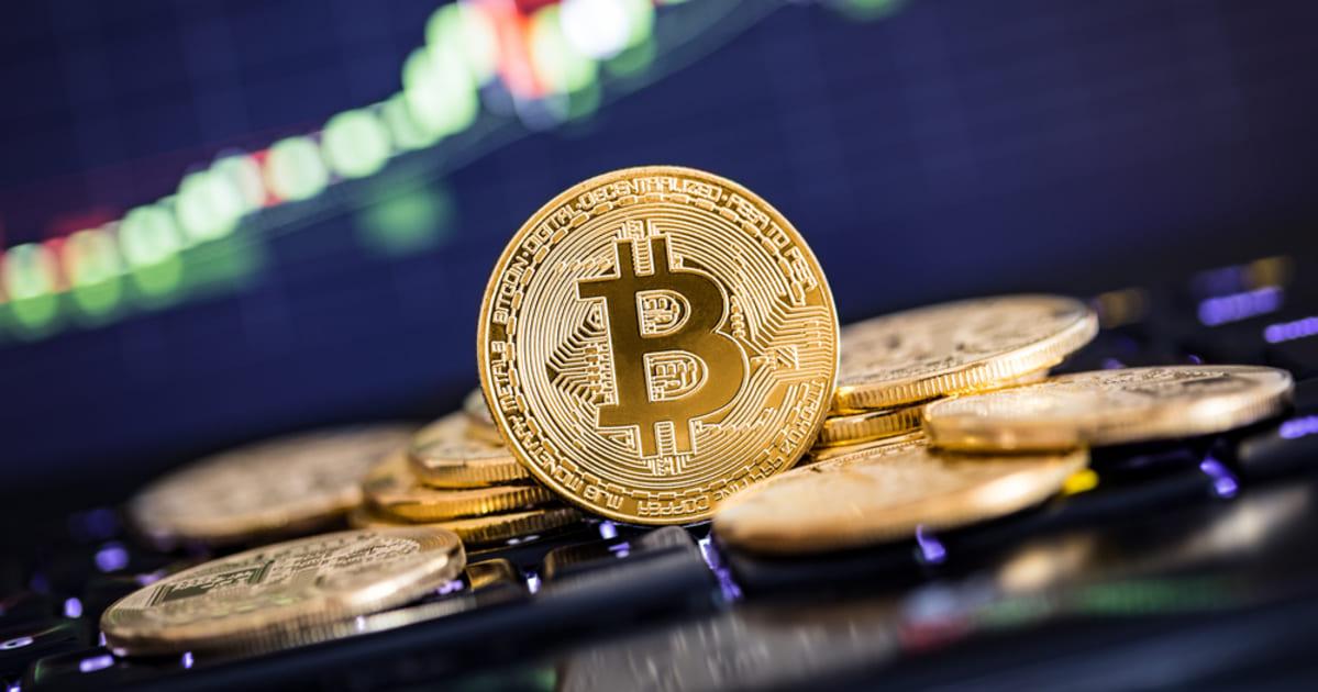 Foto de uma moeda virtual, representando Bitcoins para contadores