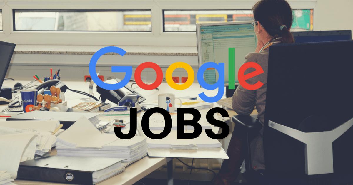 Foto de uma mulher trabalhando, representando o Google Jobs