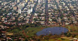 Foto aérea da cidade, representando como abrir empresa em dourados