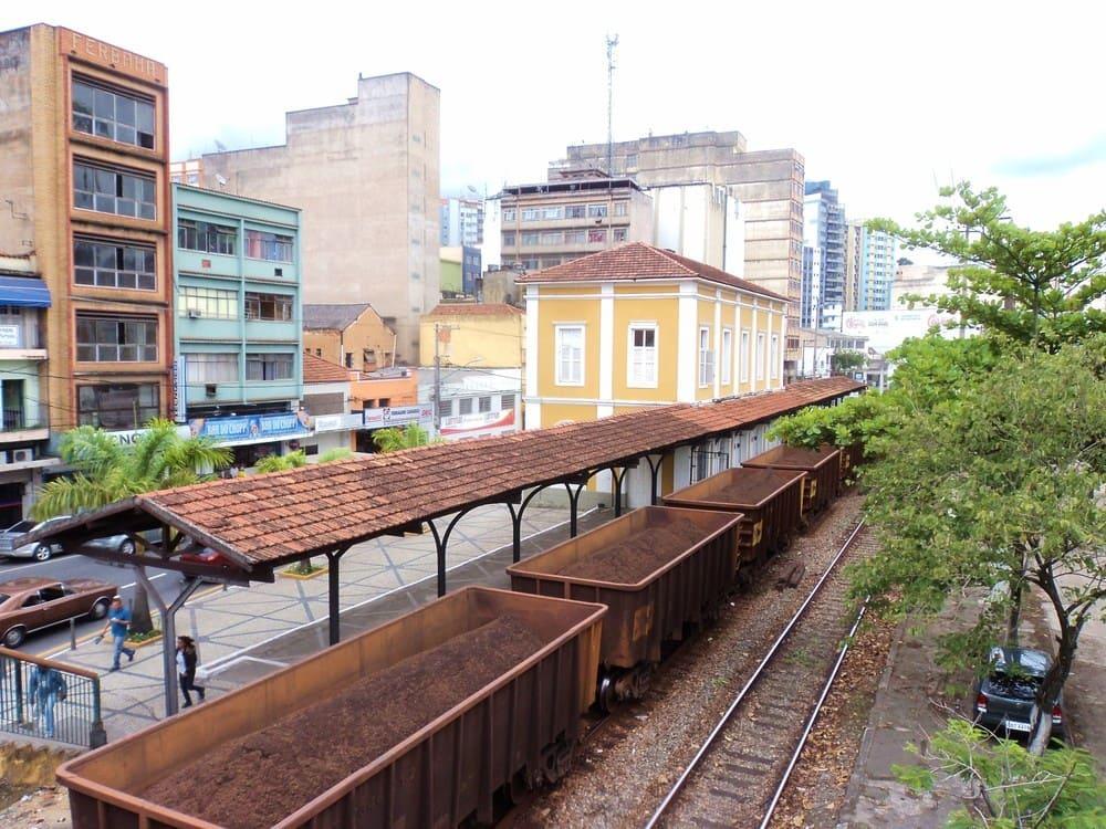 foto do trilho do trem da cidade, representando abrir empresa em barra mansa