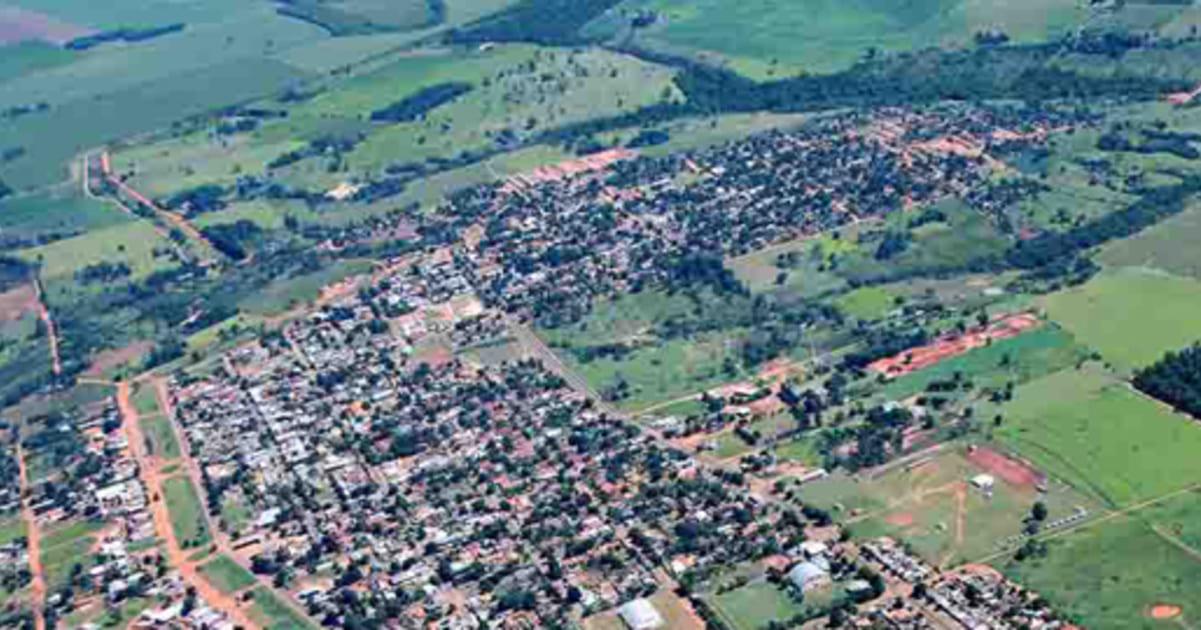 foto aérea da cidade, representando contabilidade em sete quedas