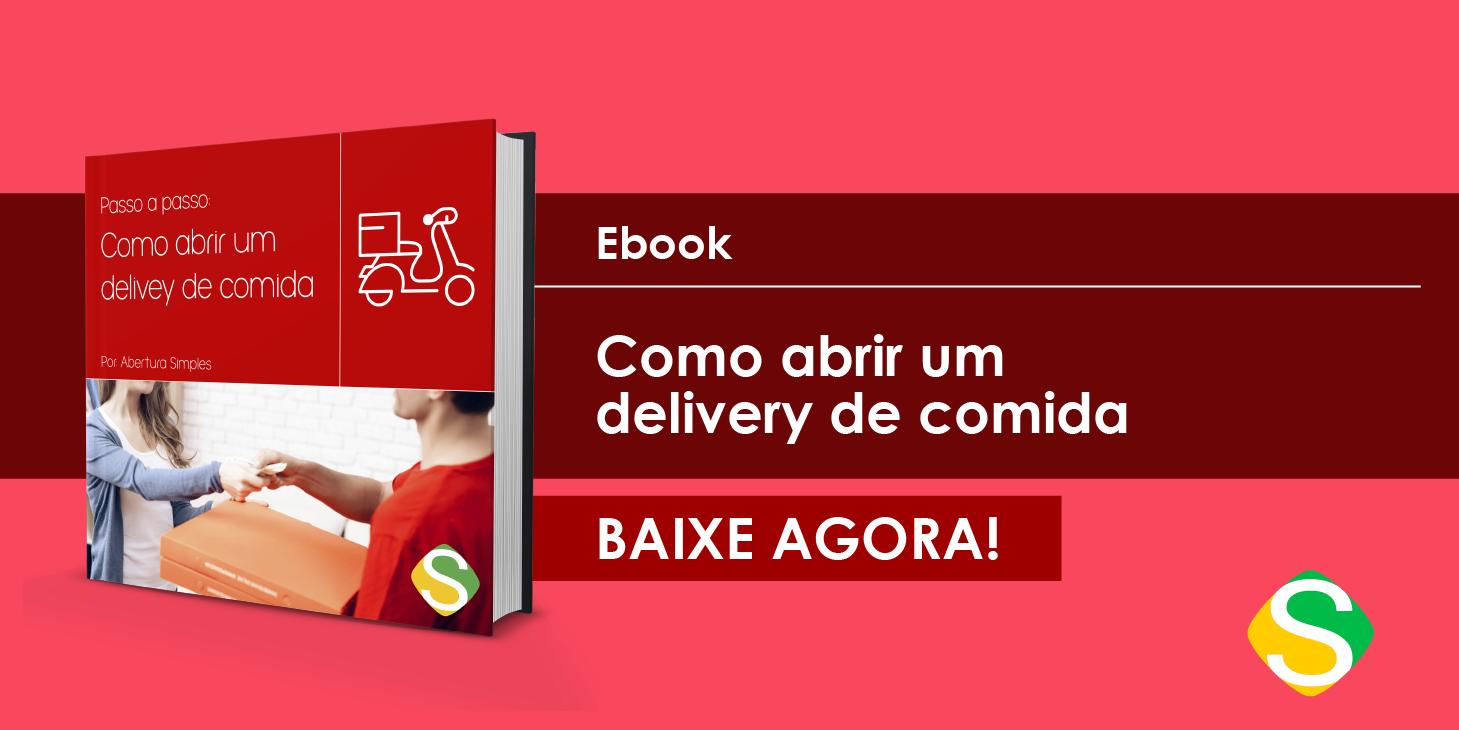 Imagem de um banner para remeter ao e-book de como abrir um delivery de comida